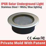 Interacción LED solar luz subterráneo