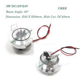 3W CREE LED Downlight 12V 24V Cabinet Light
