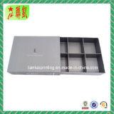 Steifes Fach-Papierkasten mit Einlage und Tellersegment