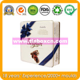 Square Chocolate tin Can for Food Packaging Metal tin Chocolate box