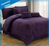 7PCS Dobby Stripe Hotel Polyester Conforter Bedding