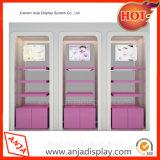 Soporte de visualización de madera de los estantes del cosmético y del maquillaje