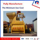 Concrete Mixer van de tweeling-Schacht van de Levering van de Fabriek van de Vervaardiging van Pully de Hete Verkopende (JS1500)