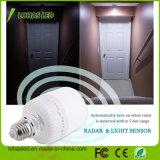Lampadina bianca del sensore di movimento del radar di alta luce del giorno di risparmio di energia E27 T80 20W 5000k LED