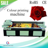 백색 색깔을%s 가진 유리를 위한 8 인쇄 헤드 UV 평상형 트레일러 인쇄 기계 또는 금속 또는 화강암 또는 대리석