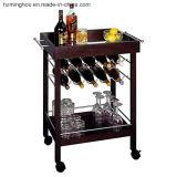 Carro de porción portable del vino del uso de hotel de la fábrica de la cocina al por mayor de la barra