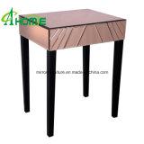 Muebles Nightstand reflejado hecho a mano/vector del dormitorio de cabecera reflejado con las piernas de madera