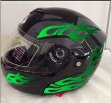 2017 DOT/ECE aprovaram viseiras duplas lanç acima da importação do capacete de Motorcylce