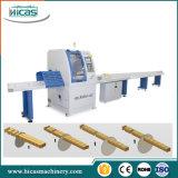 高性能の木製の十字の鋸の自動断ち切る機械