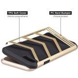 21パソコンのiPhoneのSamsungモデルのための堅いバンパーTPUの紙表紙の携帯電話の箱