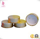 Tapas de aluminio coloreadas para el tarro poner crema facial de cristal