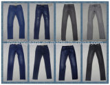 dünne Jeans des schwarzen geraden Bein-9.2oz für Frauen (HYQ57-01A)