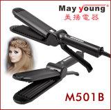 Fer plat d'extrémité de prix usine de design ergonomique de cheveu de cheveu frais de redresseur
