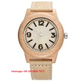 Montre en bois Fs448 de mouvement de quartz de mode simple