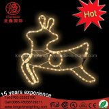 Luz del adorno del reno LED de 2017 días de fiesta de la decoración artificial de la Navidad de la lámpara 2.a para al aire libre