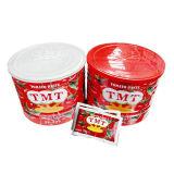 Buen gusto en conserva salsa de tomate, pasta de tomate para África del mercado en 2016 Nueva Cosecha