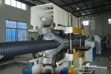 Belüftung-doppel-wandiges gewölbtes Rohr-Plastikmaschinen-Zeile Extruder des HDPE-pp.