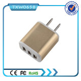 Заряжатель USB портов переходники 3 заряжателя мощьности импульса перемещения дома стены на iPhone 6 6plus Samsung
