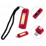 High Lumens USB recarregável COB LED Keychain Light (73-1D1703)