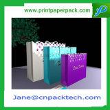 Aduana que graba bolsos cosméticos impresos de la manera de los bolsos del bolso del embalaje del bolso de compras del regalo de la bolsa del papel de Kraft