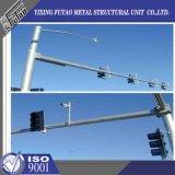 CCTV galvanizado poste montado cámara