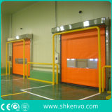 창고를 위한 냉장고 소통량 문이 고속 PVC 직물 각자 고치는에 의하여 위로 구른다