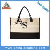 Sacchetto della spiaggia di acquisto del Tote della borsa del sacchetto di spalla delle signore della tela di canapa di svago delle donne