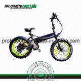 Bicicleta eléctrica con el encadenamiento del Kmc
