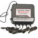 5마리의 은행에 의하여 거치되는 배터리 충전기