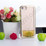 Transparenter Funkeln-Quicksand-und Stern-flüssiger Kasten des Plastik3d für iPhone 5 SE 5s
