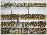Válvula de puerta de cobre amarillo del control de las ventas de la fábrica con la maneta del hierro (YD-3005-1)