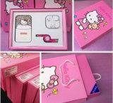 Hello Kitty Mobile Power Bank Dual USB com 3 conjuntos de luz LED