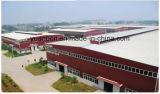 Almacén grande prefabricado de la estructura de acero del diseño industrial de la vertiente