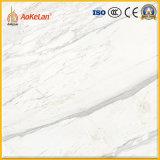 600X600mmの白の大理石のコピーは3Dインクジェットデザインの磨かれたタイルを艶をかけた