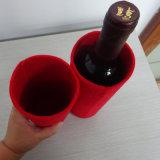La coutume a estampé le feutre un sac de vin de bouteille pour le cadeau