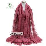 Rosen-Gleichheit gefärbte Stickerei-Spitze-Dame Fashion Imitation Silk Scarf