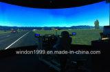 비행 모의 조종 장치를 위한 주문을 받아서 만들어진 180 도에 의하여 구부려지는 영사막