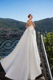 Верхняя часть Meri отклоняет платья венчания сатинировки отделяемые