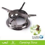 Leña Backpacking de la supervivencia de la estufa que acampa de la estufa de madera del acero inoxidable que quema cocinando el sistema