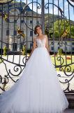 Laysy eine Zeile mehrschichtige Spitze-Hochzeits-Kleider mit dem Fishbone