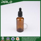 50ml de amberFlessen van de Essentiële Olie van het Glas met Zwart Plastic Druppelbuisje