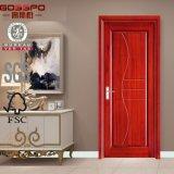 Precio de madera sólido barato de la puerta interior del MDF (GSP8-011)