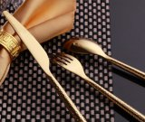ステンレス鋼の金の平皿類セットか金の食事用器具類セット