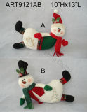 HOME Decoration-2asst do Natal de Doorstopper de Santa e de boneco de neve