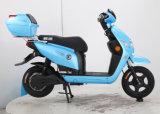 Самокат голубых девушок электрический, мотовелосипед мощных девушок электрический