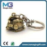 高品質は旧式な金張りの金属のキーホルダーをカスタム設計する