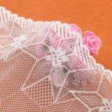 Moda toda la prenda de poliéster soluble en agua floral de encaje de diseño en blanco