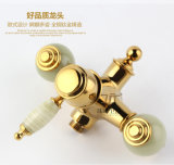 Novo Design Single Handle Zf-709 Jade Brass Shower Set