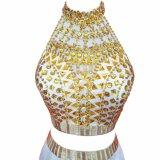 優雅な玉が付く人魚の長いイブニング・ドレス2017の安いプロムの服のパーティー向きのドレス