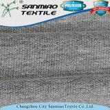 Tessuto a spugna Francese lavorato a maglia il nero di prezzi di fabbrica dello Spandex del cotone